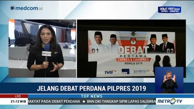 Persiapan Debat Perdana Pilpres Hampir Rampung