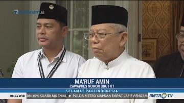Ma'ruf Amin Mengaku Tak Ada Persiapan Khusus untuk Hadapi Debat