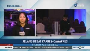Gladi Bersih Debat Capres Digelar Pagi Ini