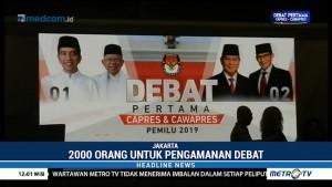 Polisi Siagakan Dua Ribu Personel untuk Debat Perdana Pilpres