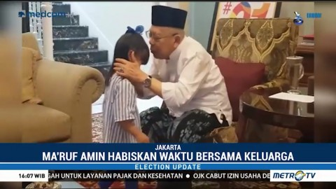 Momen Santai Ma'ruf Amin Jelang Debat Pilpres