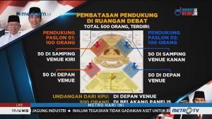 Tata Letak Tamu Undangan di Lokasi Debat Perdana Pilpres