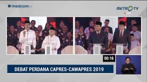 Debat Perdana Pilpres 2019 Part 2 - Program Hukum Capres Cawapres