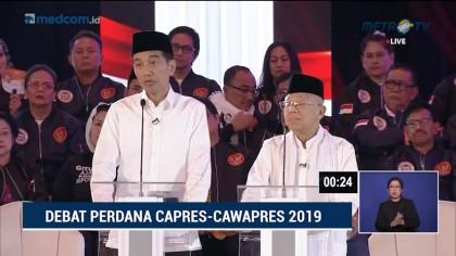 Debat Perdana Pilpres 2019 Part 3 - Program HAM Capres Cawapres