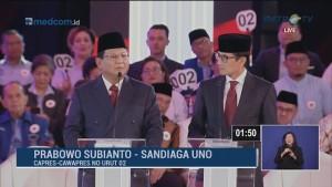 Debat Perdana Pilpres 2019 Part 4 - Program Pemberantasan Korupsi Capres Cawapres