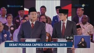 Debat Perdana Pilpres 2019 Part 7 - Adu Argumen Isu Korupsi