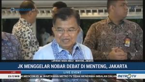 Tanggapan JK soal Penampilan Jokowi di Debat Perdana