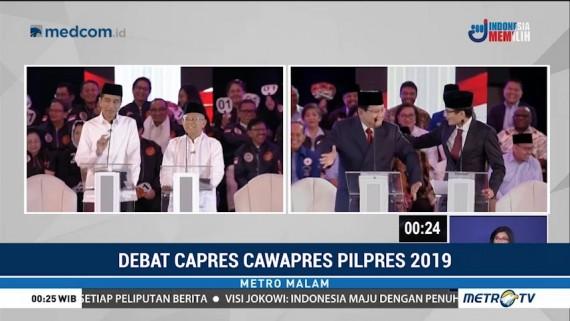 Momen Menarik di Debat Perdana Pilpres 2019