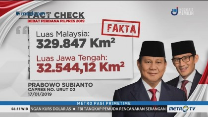 Prabowo Sebut Jawa Tengah Lebih Luas dari Malaysia, Ini Faktanya