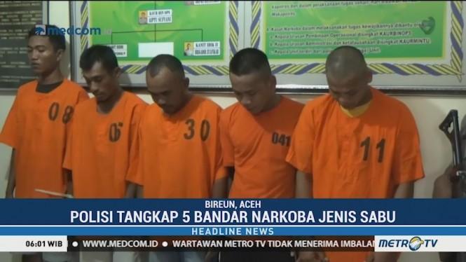 Polres Aceh Tangkap Lima Bandar Narkoba Jenis Sabu