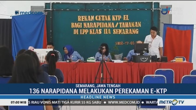 Jelang Pemilu,136 Napi di Semarang Lakukan Perekaman KTP-el