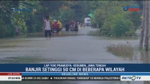 Banjir di Kebumen Mulai Surut