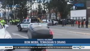 Sembilan Orang Tewas Akibat Bom Mobil di Kolombia