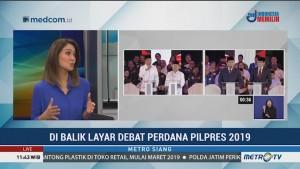 Di Balik Layar Debat Perdana Pilpres 2019