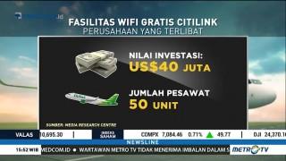 Citilink Beri Akses Wifi Gratis di Pesawat