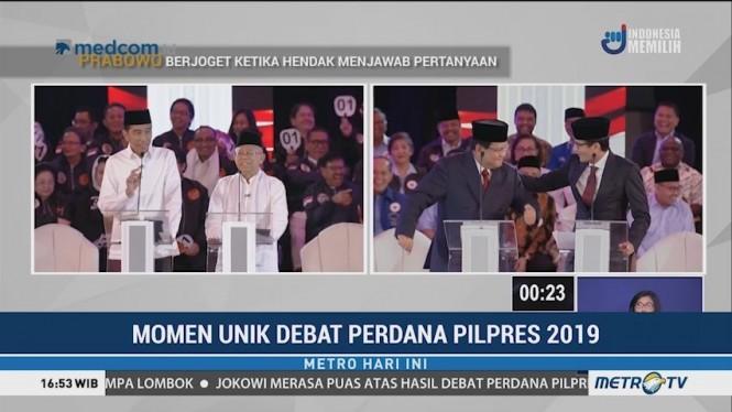 Momen Unik Debat Perdana Pilpres