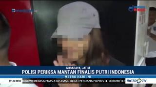 Mantan Finalis Putri Indonesia Bungkam Usai Diperiksa