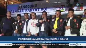 Prabowo Dinilai Salah Kaprah soal Hukum