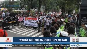Warga Grobogan Protes Pidato Prabowo soal Bunuh Diri