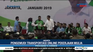 Curhat Pengemudi Online ke Jokowi