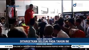 Jokowi Tinjau Proyek Reaktivasi Jalur KA Cibatu-Garut