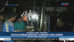 Upaya Evakuasi Korban yang Tercebur Sumur di Tangerang