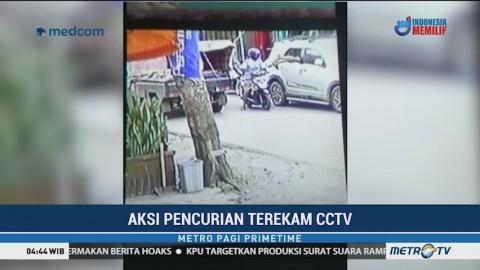 Aksi Pencurian Modus Pecah Kaca Mobil di Bengkulu Terekam CCTV