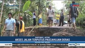 Pascahujan Deras, Akses Jalan Dua Desa di Banyumas Terputus