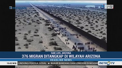 Ratusan Migran Amerika Ditangkap di Wilayah Arizona