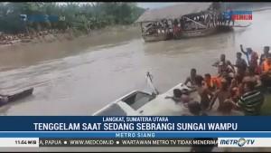 Satu Keluarga Tenggelam saat Sebrangi Mobil dengan Rakit di Sungai