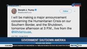 Trump akan Buat Pengumuman Besar Terkait <i>Government Shutdown</i>