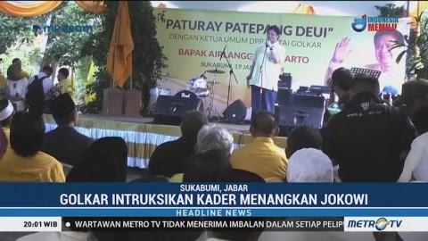Airlangga Temui Kader Golkar di Sukabumi