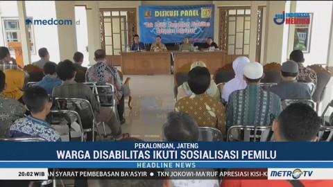 Warga Disabilitas di Pekalongan Ikuti Sosialisasi Pemilu