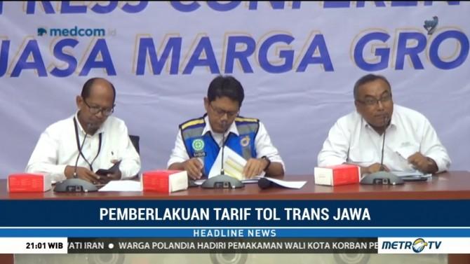 Jasa Marga Mulai Terapkan Tarif di Sejumlah Ruas Trans Jawa