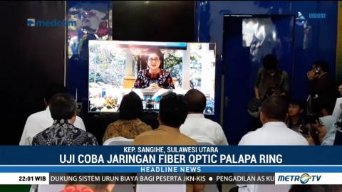 Menteri Kabinet Kerja Uji Coba Jaringan Internet Palapa Ring Tengah