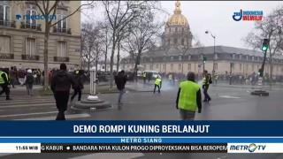 Demo Rompi Kuning Prancis Berlanjut di Pekan Kesepuluh