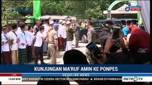 Ma'ruf Amin Kunjungi Ponpes Manbaul Falah di Bandung Barat