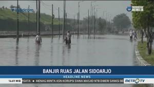 Jalan Raya Porong Masih Ditutup untuk Antisipasi Banjir Susulan