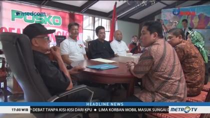 Erick Thohir Bersilaturahmi ke Kediaman Solihin GP