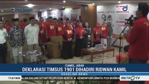 Timsus 1901 Deklarasikan Dukungan untuk Jokowi-Ma'ruf Amin
