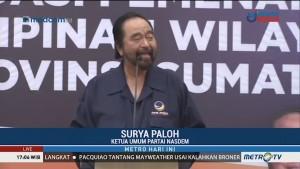 Surya Paloh Hadiri Konsolidasi Pemenangan Pemilu DPW NasDem Sumbar