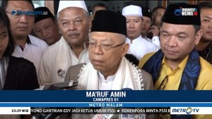 Ma'ruf Amin Setuju Debat Tanpa Kisi-kisi