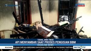 Tuang Bensin di Dapur, Sebuah Rumah di Tuban Ludes Terbakar