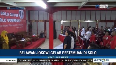 Relawan Jokowi Gelar Pertemuan di Solo
