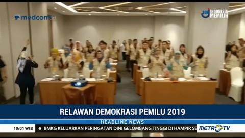 KPU Deli Serdang Kukuhkan 55 Relawan Demokrasi