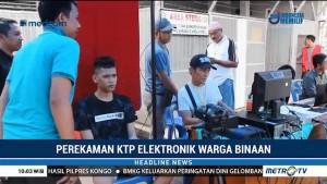 Jelang Pemilu, Warga Binaan Rutan Bagansiapiapi Rekam KTP-el