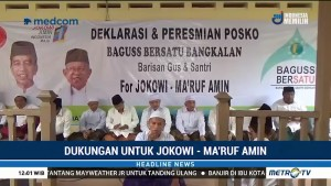 Baguss Bersatu Bangkalan Deklarasi Dukung Jokowi-Ma'ruf