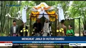 Pernikahan Unik, Mengikat Janji Setia di Hutan Bambu