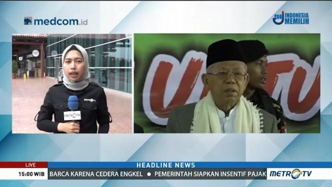Ma'ruf Amin Sapa Warga Banten