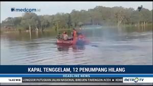 Kapal Tenggelam di Sungai Kapuas, 12 Penumpang Hilang